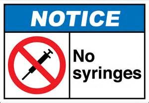 No Syringes